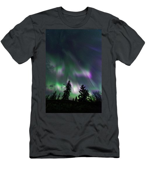 Men's T-Shirt (Slim Fit) featuring the photograph Dancing Lights by Dan Jurak