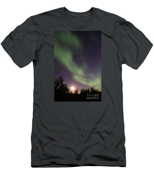 Men's T-Shirt (Slim Fit) featuring the photograph Dancing With The Moon by Larry Ricker
