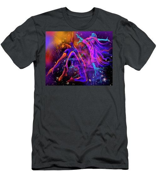 Dancing With The Universe Men's T-Shirt (Slim Fit) by DC Langer