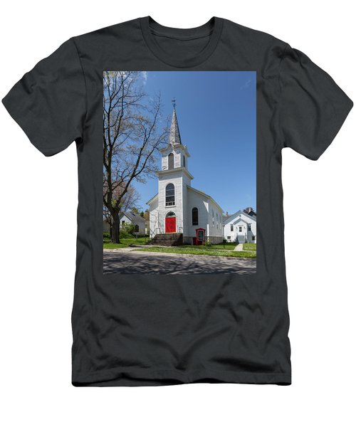 Men's T-Shirt (Athletic Fit) featuring the photograph Danish Lutheran Church by Fran Riley