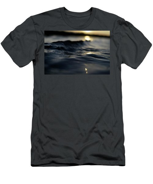 Men's T-Shirt (Slim Fit) featuring the photograph Dark Atlantic Traces by Laura Fasulo