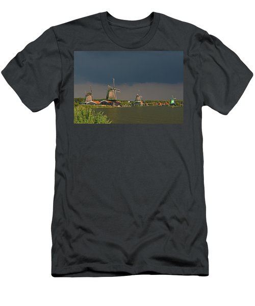 Dark Clouds Above Zaanse Schans Men's T-Shirt (Athletic Fit)