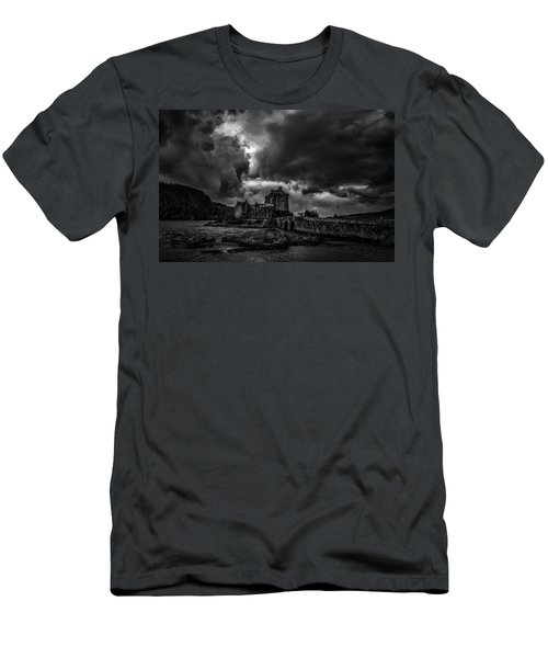 Dark Clouds Bw #h2 Men's T-Shirt (Athletic Fit)