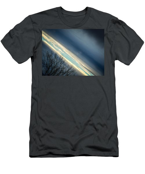Dark Clouds Parting Men's T-Shirt (Athletic Fit)