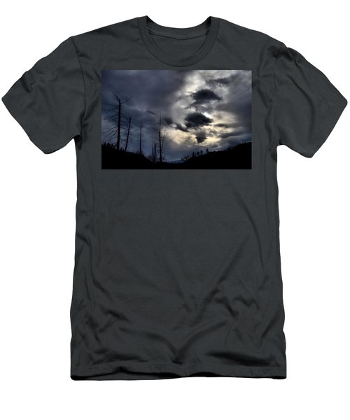 Men's T-Shirt (Slim Fit) featuring the photograph Dark Clouds by Tara Turner