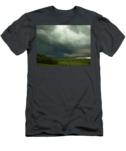 Men's T-Shirt (Athletic Fit) featuring the photograph Dark Countryside by Melissa Peterson