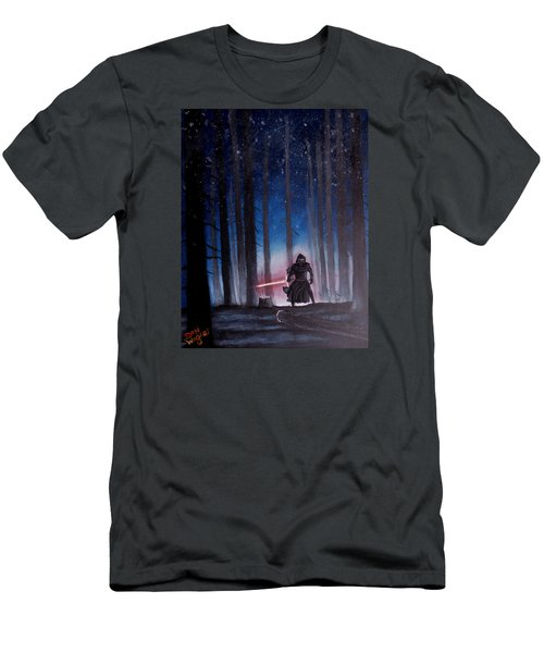 Men's T-Shirt (Slim Fit) featuring the painting Dark Jedi by Dan Wagner