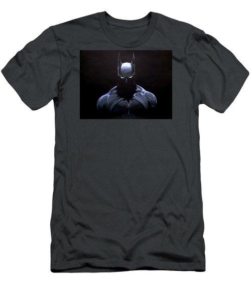Dark Knight Men's T-Shirt (Slim Fit) by Marcus Quinn