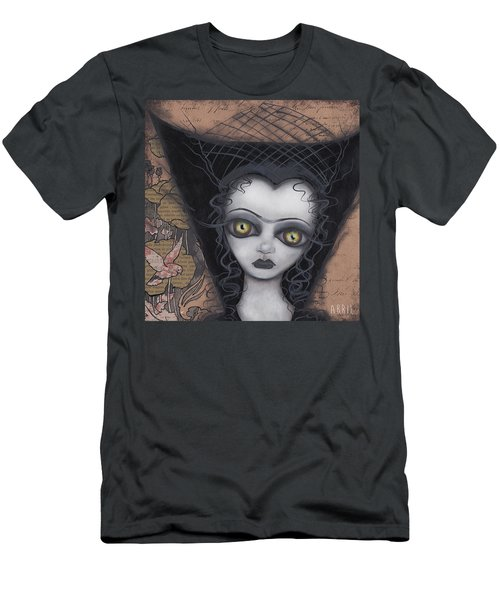 Dark Lily Men's T-Shirt (Slim Fit) by Abril Andrade Griffith