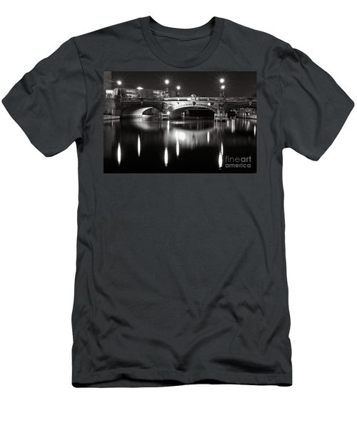 Dark Nocturnal Sound Of Silence Men's T-Shirt (Athletic Fit)