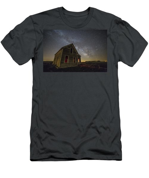 Dark Place With Meteor  Men's T-Shirt (Athletic Fit)