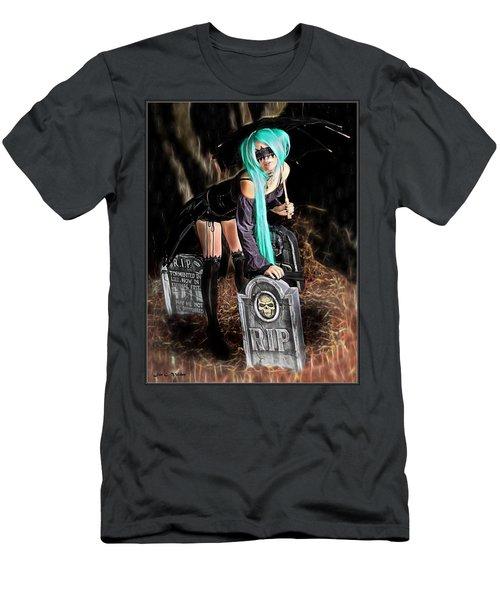 Dark Rain Men's T-Shirt (Athletic Fit)