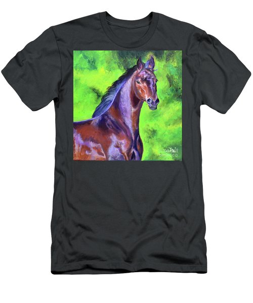 Dark Red Bay Horse Men's T-Shirt (Athletic Fit)