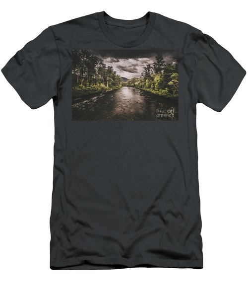 Dark River Woods Men's T-Shirt (Athletic Fit)