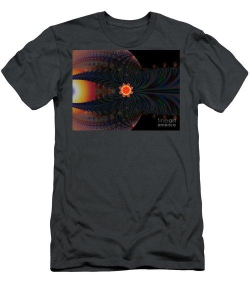 Dark Space Fractal  Men's T-Shirt (Athletic Fit)