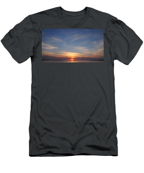 Men's T-Shirt (Slim Fit) featuring the photograph Dark Sunrise by  Newwwman