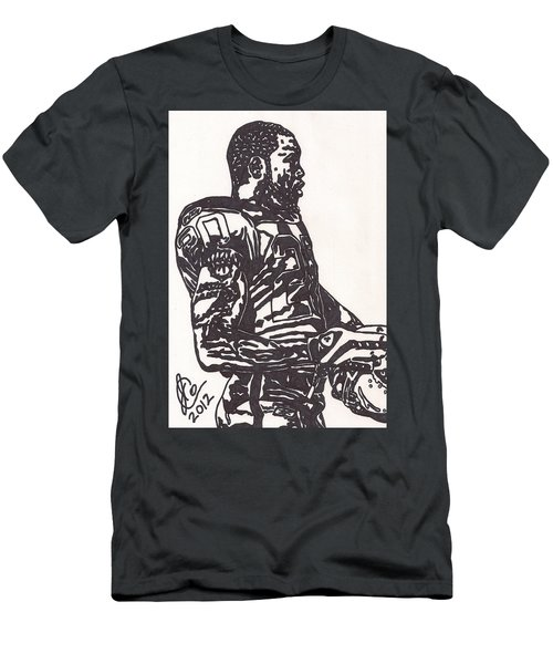 Men's T-Shirt (Slim Fit) featuring the drawing Darren Mcfadden 1 by Jeremiah Colley