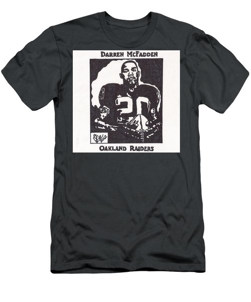 Men's T-Shirt (Slim Fit) featuring the drawing Darren Mcfadden 2 by Jeremiah Colley