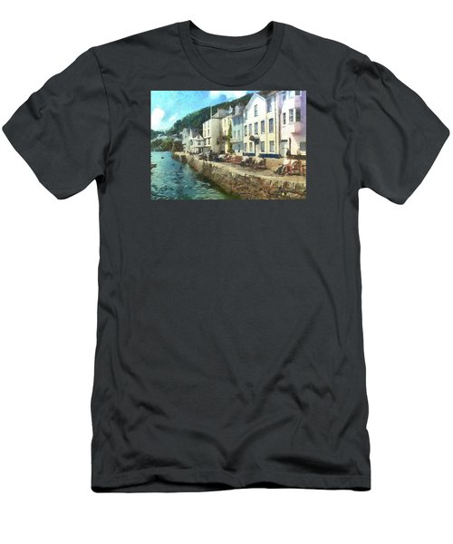 Men's T-Shirt (Slim Fit) featuring the digital art Bayards Cove Dartmouth Devon  by Charmaine Zoe