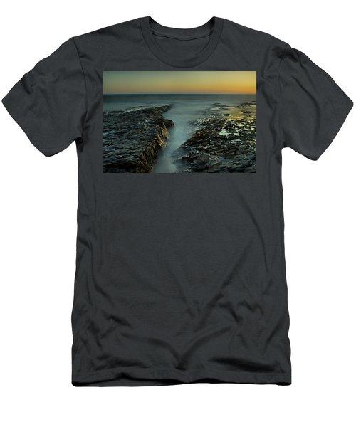 Davenport Landing Beach At Golden Hour Men's T-Shirt (Athletic Fit)