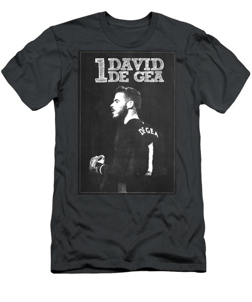 David De Gea Men's T-Shirt (Slim Fit) by Semih Yurdabak