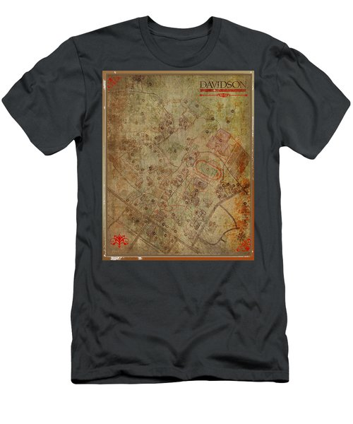 Davidson College Map Men's T-Shirt (Athletic Fit)