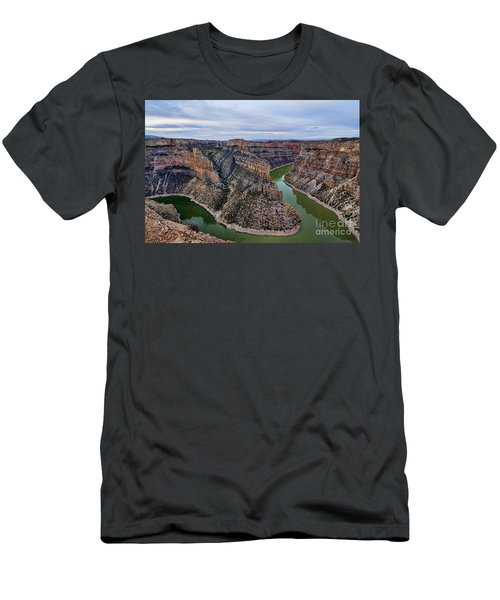 Dawn At Devils Overlook Bighorn Canyon Men's T-Shirt (Athletic Fit)