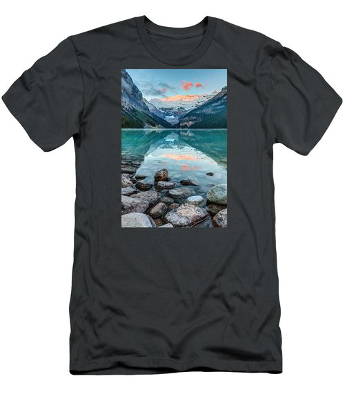 Dawn At Lake Louise Men's T-Shirt (Athletic Fit)