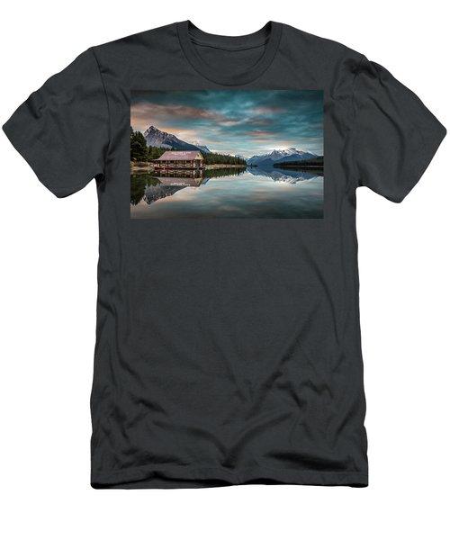Dawn At Maligne Lake Men's T-Shirt (Athletic Fit)