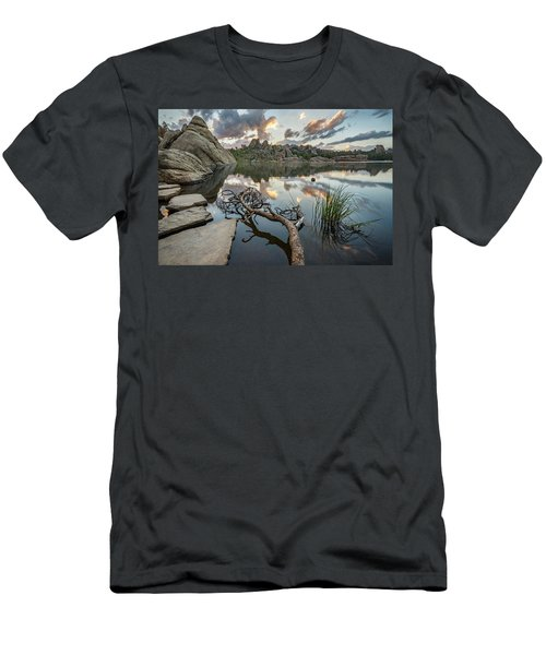 Men's T-Shirt (Athletic Fit) featuring the photograph Dawn At Sylvan Lake by Adam Romanowicz