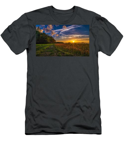 Dawn In The Lower 40 Men's T-Shirt (Athletic Fit)