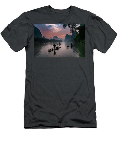 Waiting For Sunrise On Lee River. Men's T-Shirt (Athletic Fit)