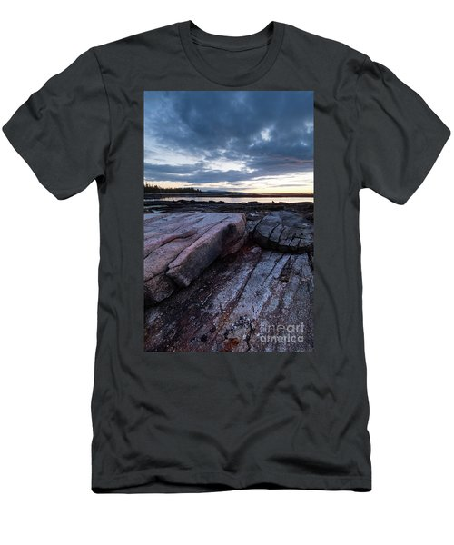 Dawn On The Shore In Southwest Harbor, Maine  #40140-40142 Men's T-Shirt (Athletic Fit)