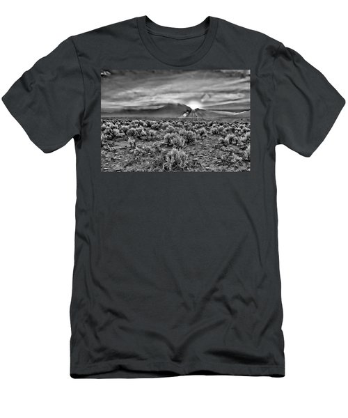 Dawn Over Magic Taos In B-w Men's T-Shirt (Athletic Fit)