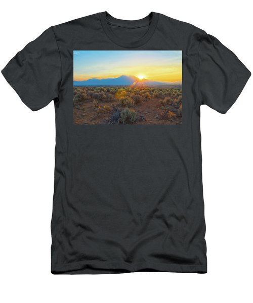Dawn Over Magic Taos Mountain Men's T-Shirt (Athletic Fit)
