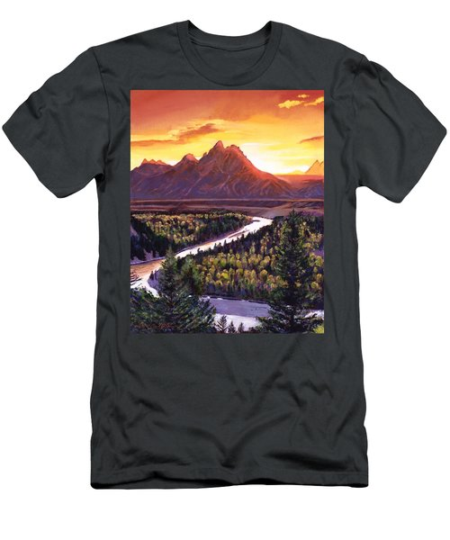 Dawn Over The Grand Tetons Men's T-Shirt (Athletic Fit)