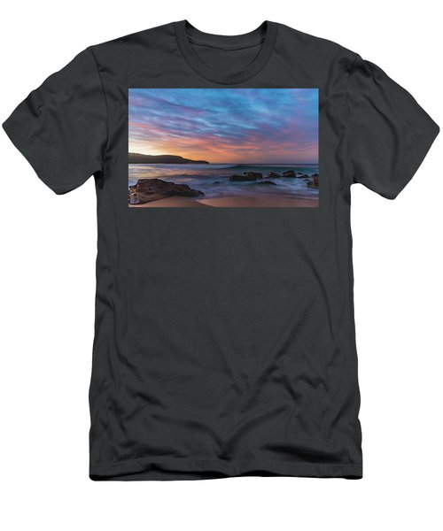 Dawn Seascape With Rocks And Clouds Men's T-Shirt (Athletic Fit)