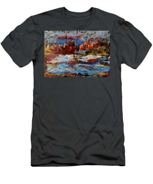Men's T-Shirt (Athletic Fit) featuring the painting Day Dreaming Sedona Arizona by Reed Novotny