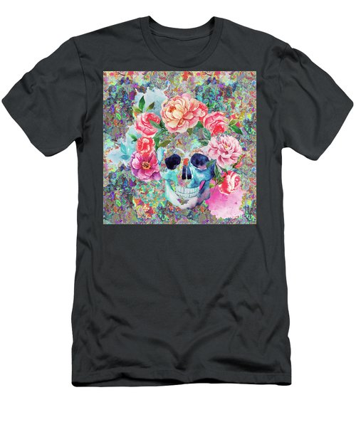 Day Of The Dead Watercolor Men's T-Shirt (Athletic Fit)