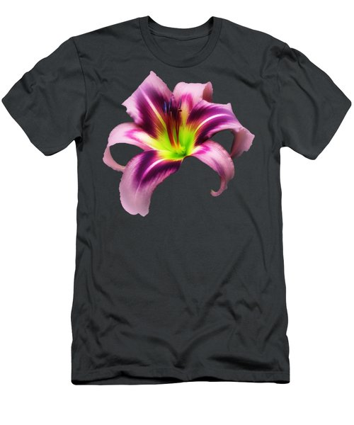 Daylily Star  Men's T-Shirt (Slim Fit) by MTBobbins Photography