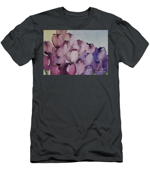 Days Of Wine And Tulips Men's T-Shirt (Athletic Fit)