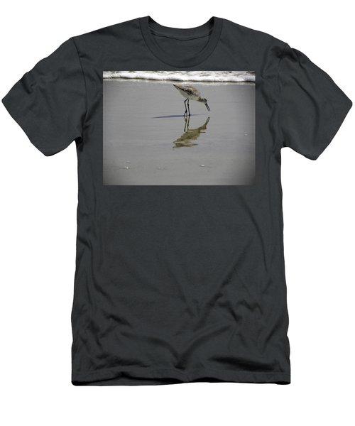 Daytona Beach Shorebird Men's T-Shirt (Slim Fit) by Chris Mercer