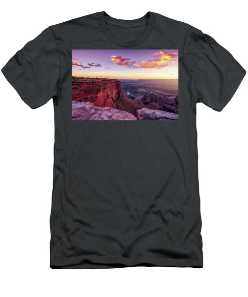 Men's T-Shirt (Athletic Fit) featuring the photograph Dead Horse Point Sunset by Darren White