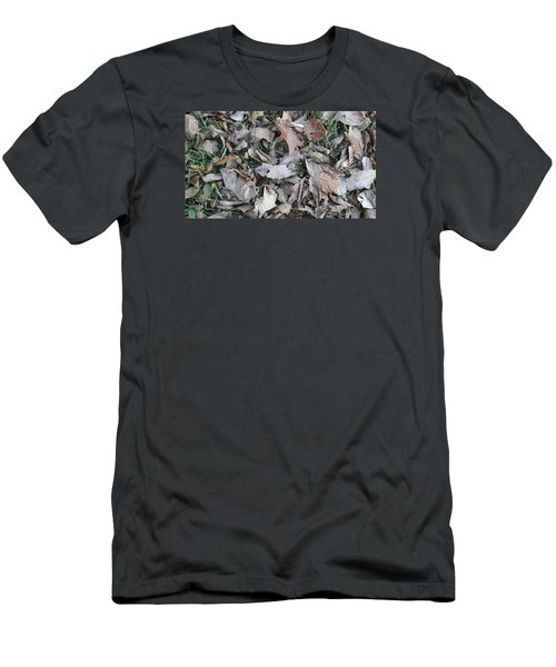 Men's T-Shirt (Slim Fit) featuring the mixed media Dead Leaves by Don Koester