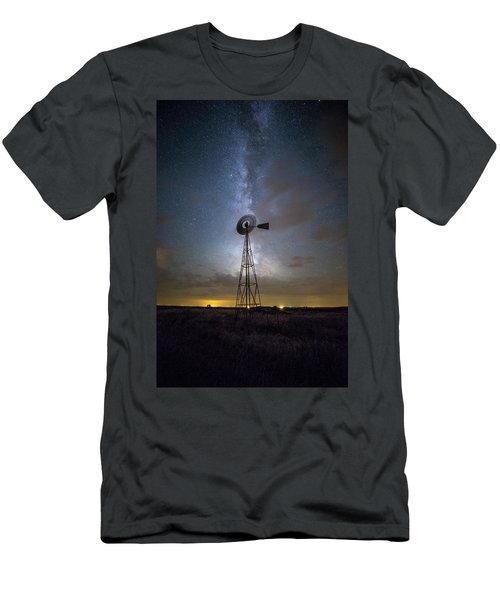 Men's T-Shirt (Athletic Fit) featuring the photograph Dead Of Night by Aaron J Groen