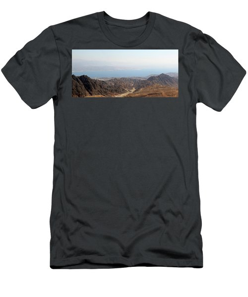 Dead Sea-israel Men's T-Shirt (Slim Fit) by Denise Moore