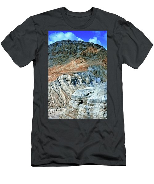 Dead Sea Scroll Caves Men's T-Shirt (Athletic Fit)