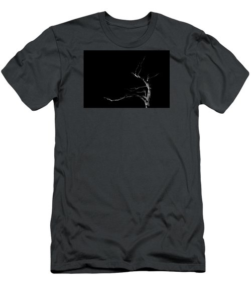 Dead Tree On Black Background Men's T-Shirt (Athletic Fit)