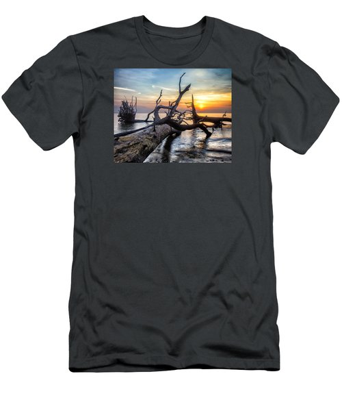 Men's T-Shirt (Slim Fit) featuring the photograph Deadwood Morning by Alan Raasch