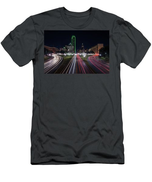 Dealey Plaza Dallas At Night Men's T-Shirt (Athletic Fit)